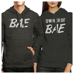 Bae And Owner Of Bae Matching Couple Dark Grey Hoodie