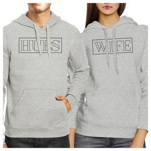 Hubs And Wife Matching Couple Grey Hoodie
