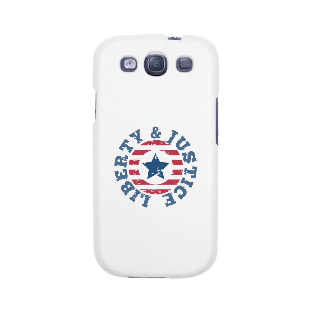 Liberty & Justice White Phone Case