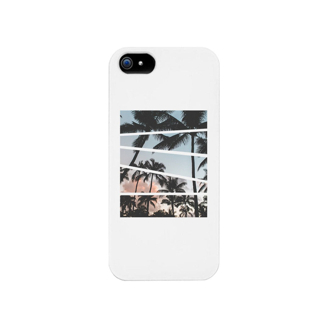 Palm Trees Split White Phone Case