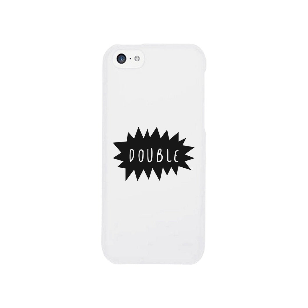 Double Trouble - White Phone Case