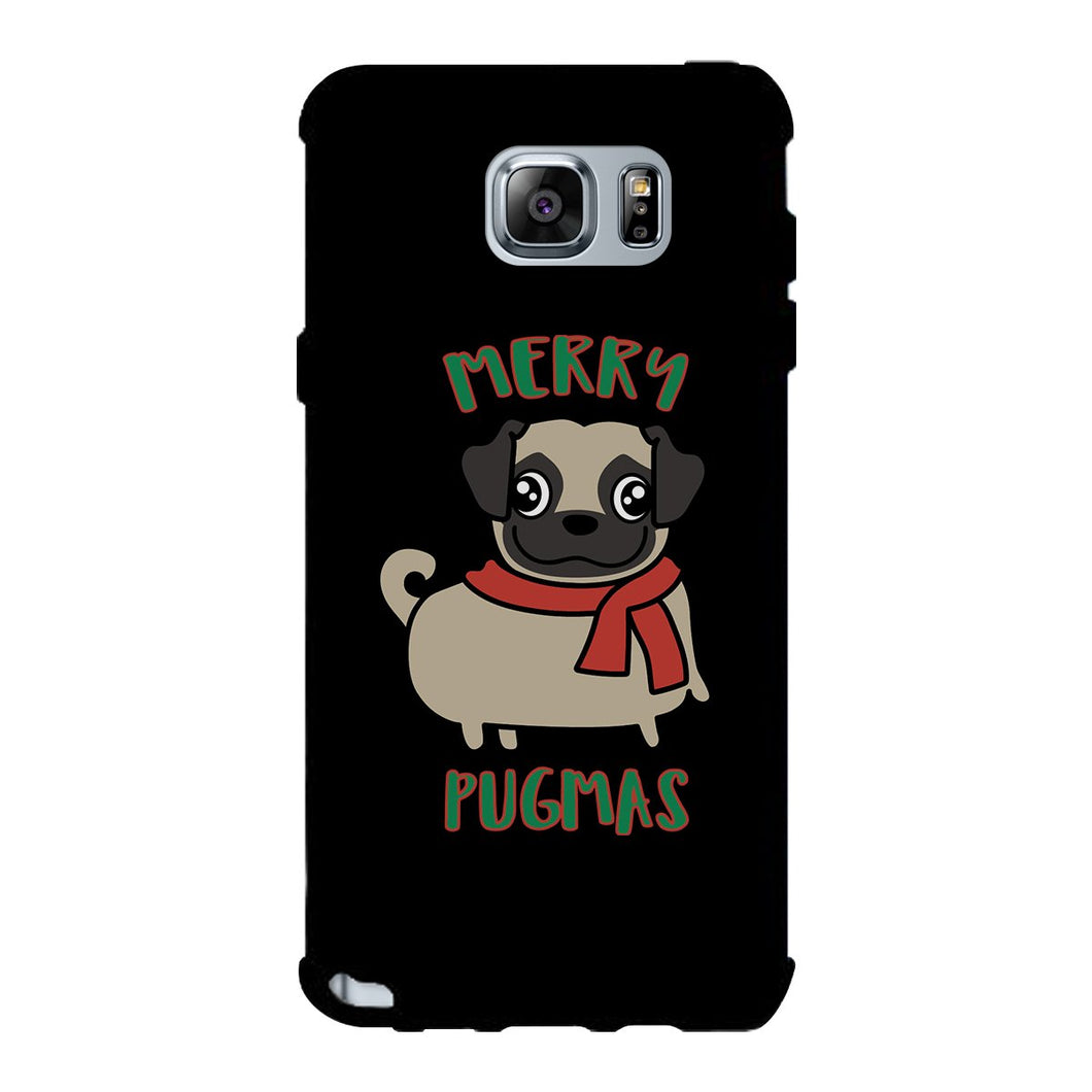Merry Pugmas Pug Black Phone Case