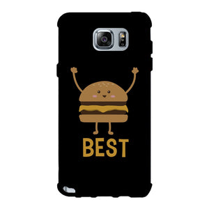 Hamburger and Fries BFF Matching Black Best Friend Phone Cases