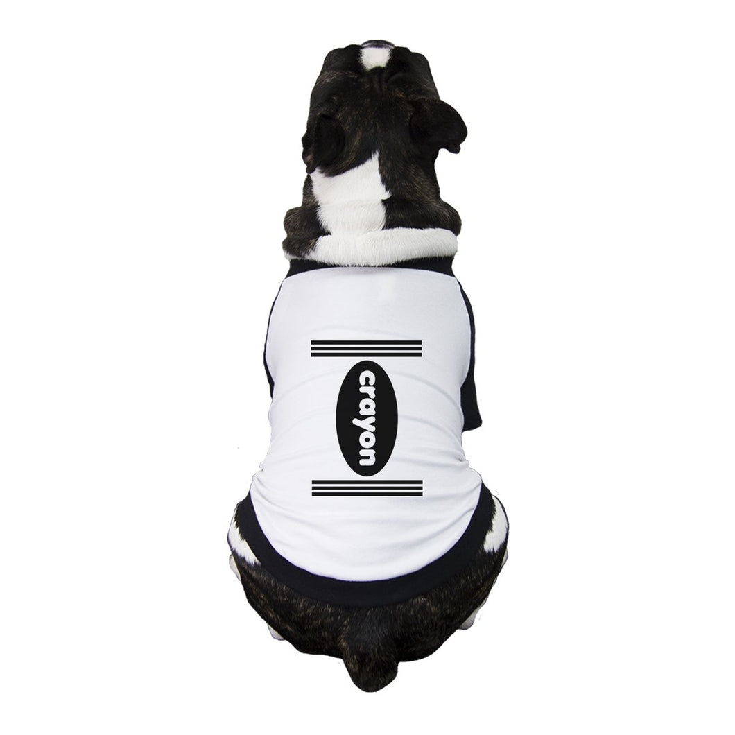 Crayon Pets Black And White BaseBall Shirt
