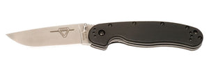 Ontario RAT1 Folder 3.625 in Blade Black GFN Handle