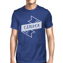 Load image into Gallery viewer, Camper Men's Blue Short Sleeve Tee Cool Summer Outdoor T Shirt