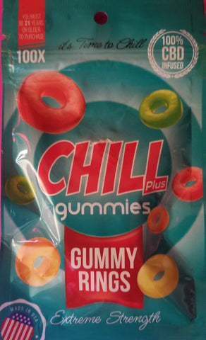 Chill Plus Gummies-100x -100% CBD Infused Extreme Strength 20GMS (Over 21 to Buy)