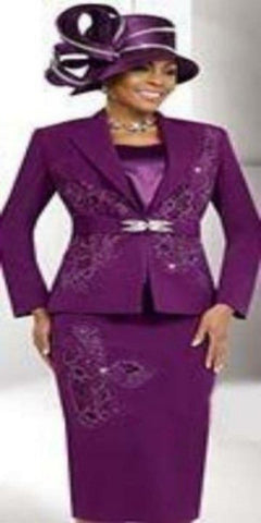 Fifth Sunday  Magenta Three-Piece Suit