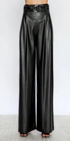 Vegan Leather Slacks