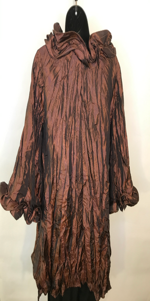 Brown Taffeta Coat/Dress