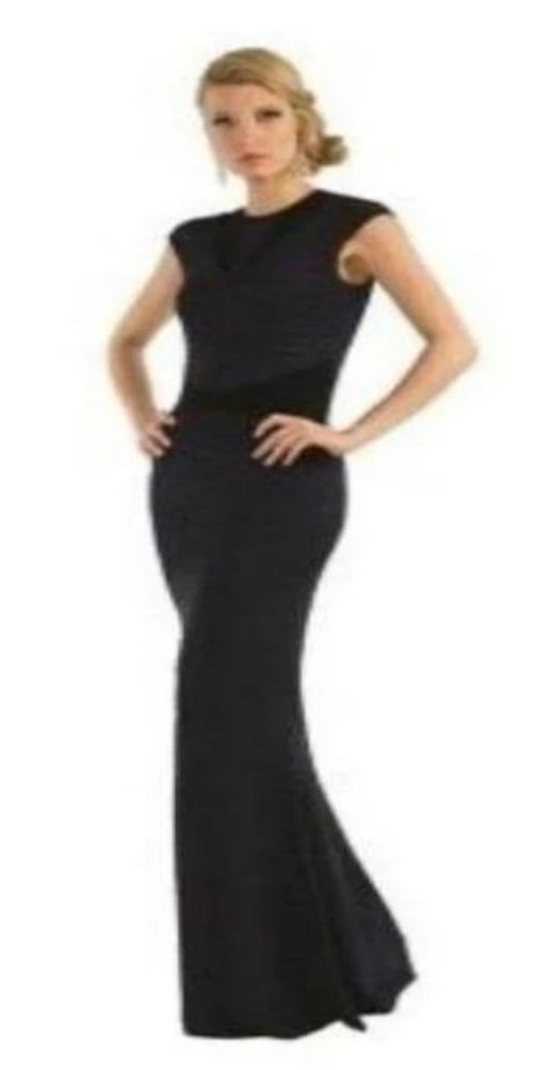 Navy Diamond Texture Dress Size