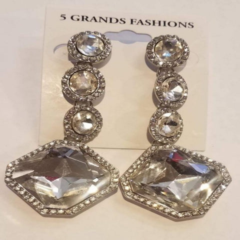 Long Chrystal and Rhinestone Earrings