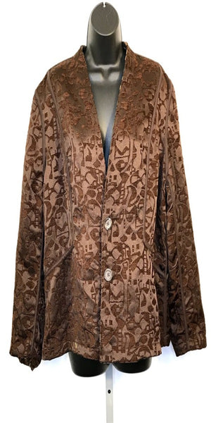 Brown Reversible Two Button Jacket