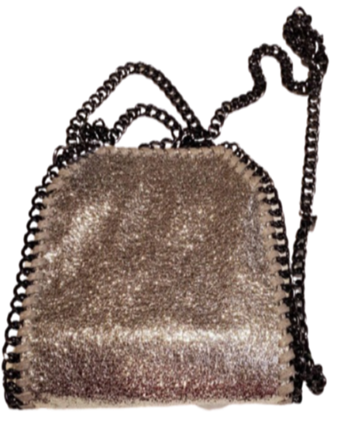 Sparkly Gunmetal Chain Purse