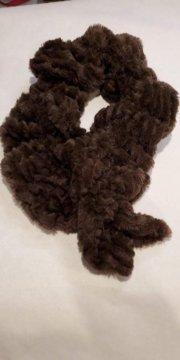 Faux Fur Chocolate Scarf