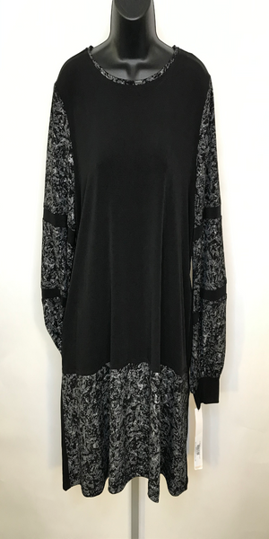 Black and Silver Long Sleeve Tunic