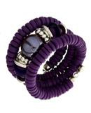 Three Layer Spiral Purple Bracelet