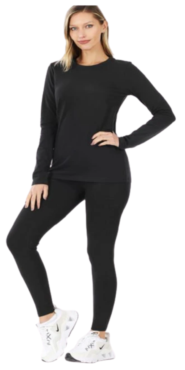 Basic Two-Piece Legging Set