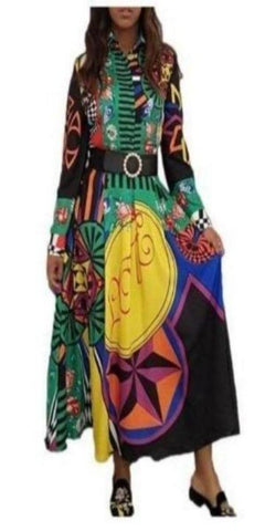 Beautiful Printed A-line Dress