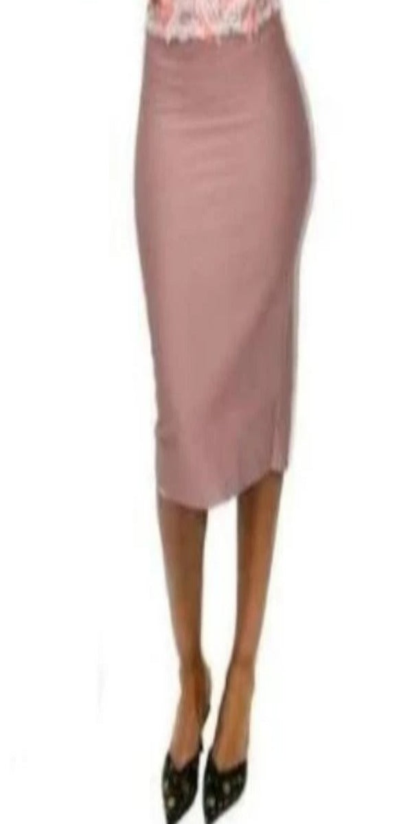 Mauve Pink Pencil Skirt