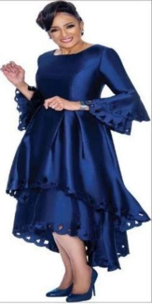 Navy Tiered Dress