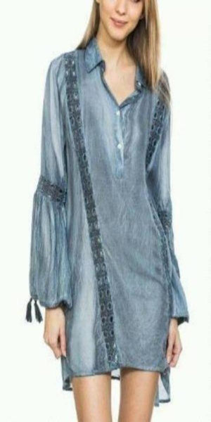 Navy Poetic Sleeve Tunic