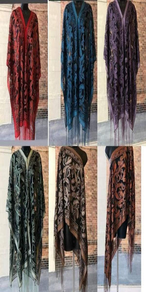 Red Paisley 7-Way Scarf