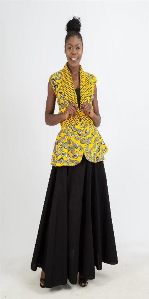 Maxi skirt with elastic waist