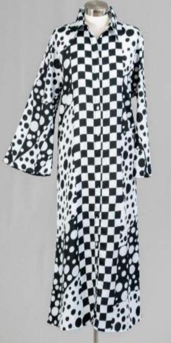Black and White Print Duster