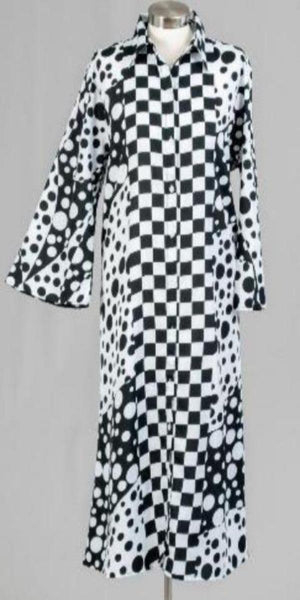 Kara Chic Duster Black and White Print Duster