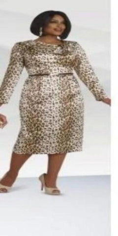 Leopard Dress Silk fabric