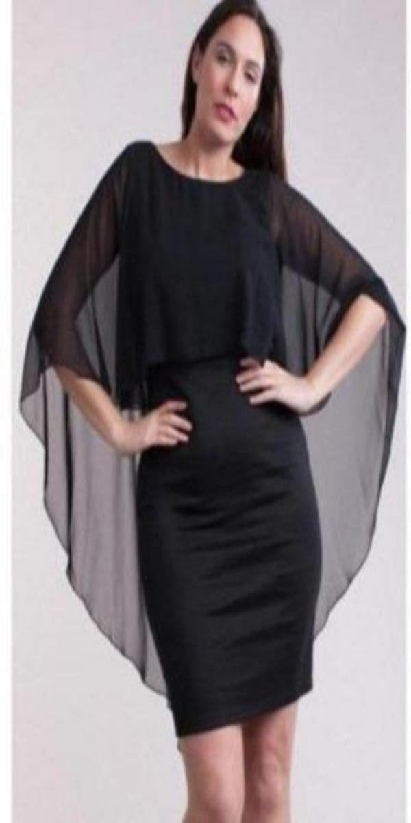 Symphony dress Black Cape Dress