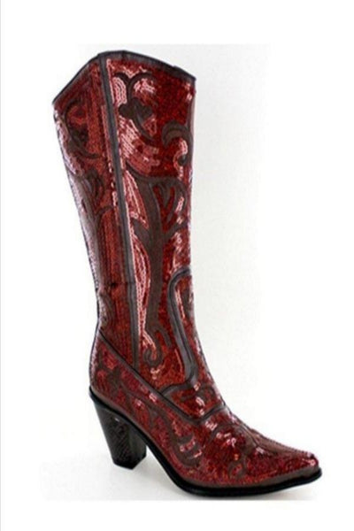 Brown/ Bronze Bling Cowboy Boots