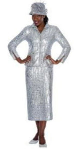Nubiana  Nubiano Two-Piece Silver/Platinum Suit