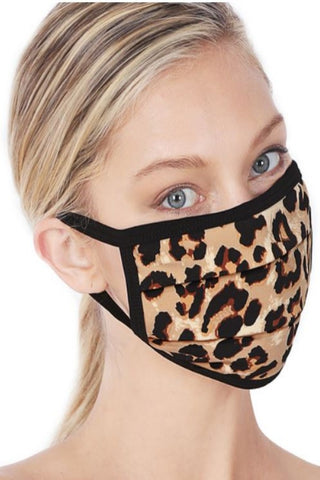 LEOPARD PRINT WASHABLE MASK