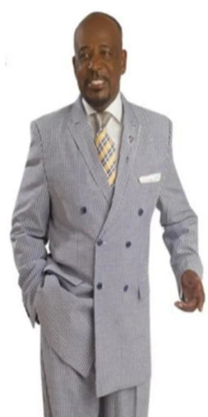 Mens Denim Double Breasted suit