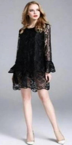 Jerry T Sassy Black Lace Top