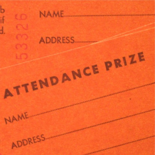 Vintage Attendance Prize Tickets Ghost And Dove