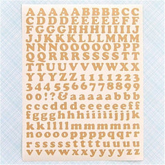 Kraft Paper Alphabet and Number Stickers