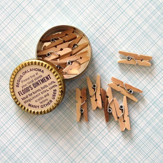 "1"" Mini Clothespins Natural Wood"