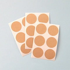 Kraft Paper Round Circle Stickers