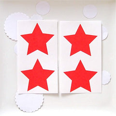 Red Star Stickers Labels Large