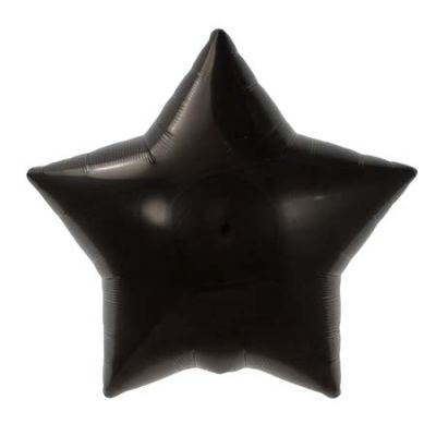 45cm Foil Balloon - STAR - BLACK