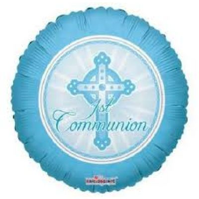 45cm Foil Balloon - COMMUNION BOY