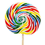 Sweet World SWIRL POPS - Rainbow - Large 120gm
