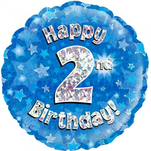 45cm Foil Balloon - HAPPY 2ND BIRTHDAY
