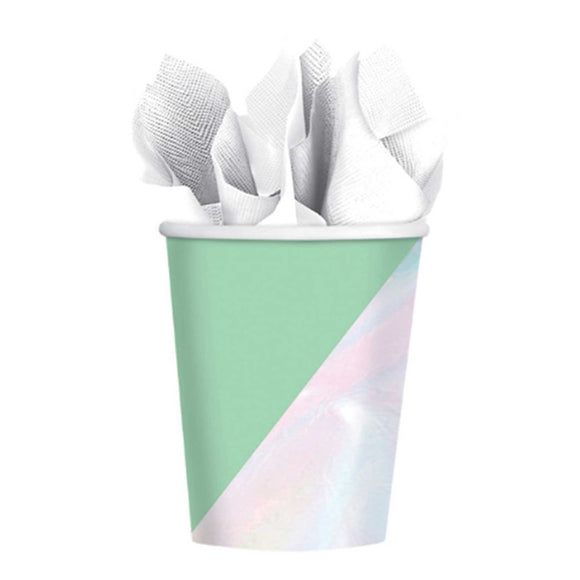 Party Paper Cups - SHIMMERING PARTY IRIDESCENT