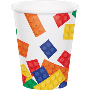 Party Paper Cups - LEGO BLOCKS