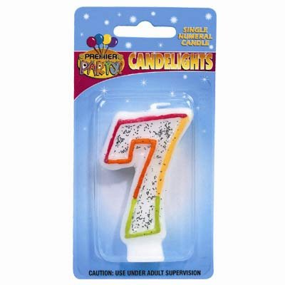 Birthday Candle - NUMBERS RAINBOW 0, 4 & 7 - DELETED LINE