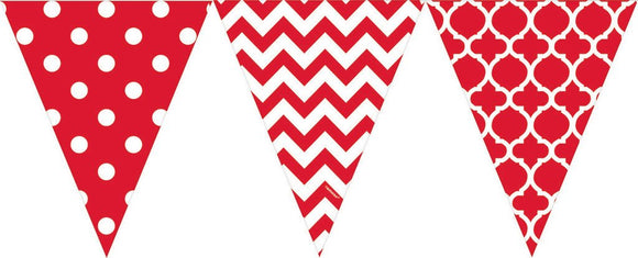 Bunting Flags (Pennant Banners) - RED